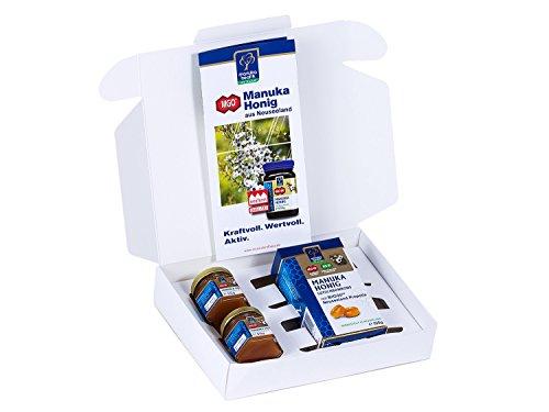 Manuka Lutschtabletten (Manuka Health Geschenk-Set Manuka Honig 2 Probiergläser und Lutschbonbons Propolis (200 g))