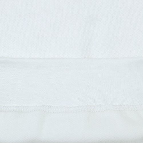 SUMG Kapuzenpullover Hoodie Kapuzen-Sweatshirt 'BASIC Hooded Pullover' Weiß