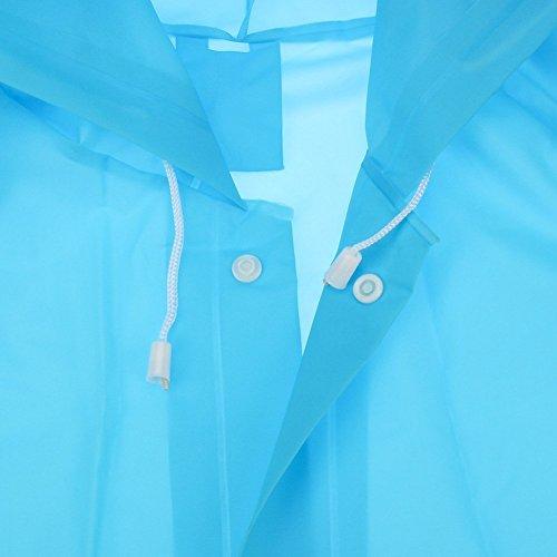 Regenponcho von Outry, Regenjacke Regenmantel, Poncho, Regencape, Rad-Regenponcho, regenponcho fahrrad, regenkleidung für das Fahrrad Blau
