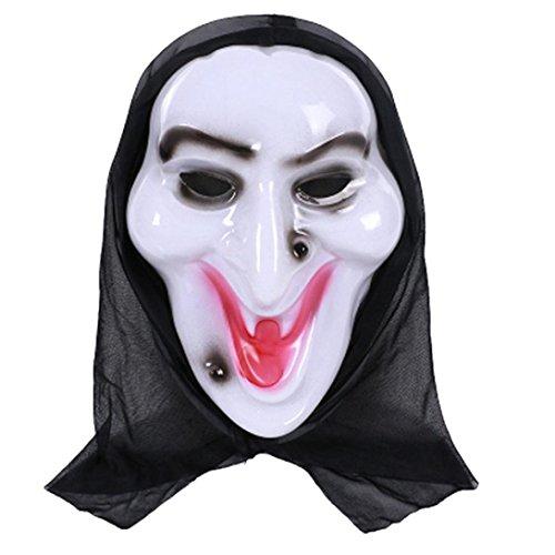 FNKDOR Halloween Party Cosplay Horror Grimasse Maske (H)