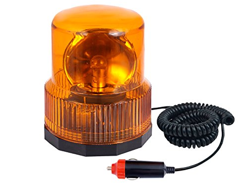 Luces giratorias de faro de emergencia magnética, 12 V, color naranja, para cualquier vehículo