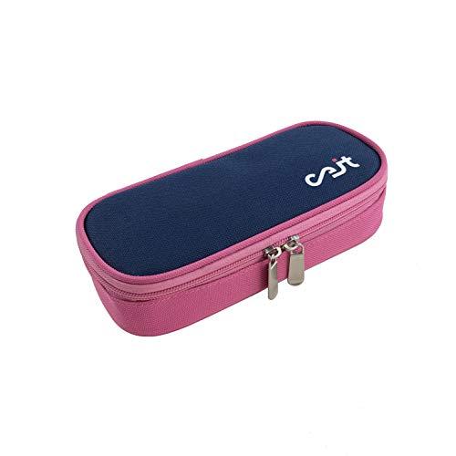 CEIT Bolsa Isotérmica de Insulina para Diabetes | Pack Diabético Completo con 2 Bolsas de Gel Frío | Compartimentos Aislados: Jeringas, Tiras, Agujas e Insulina | Portátil y Compacto | 20x9x4 cm