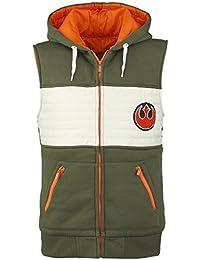 Star Wars Rebel Fighter Gilet à capuche vert/blanc/orange