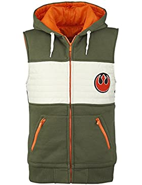 Star Wars Rebel Fighter Chaleco con capucha verde-blanco-naranja