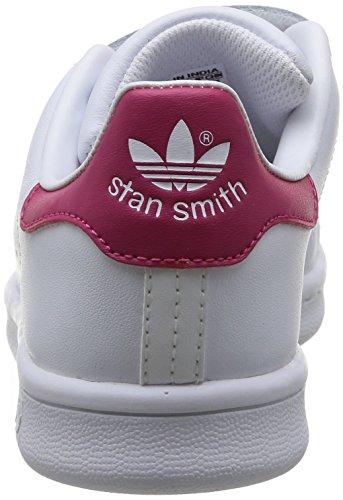 Adidas B32706, Unisex-Kinder Tennisschuhe Weiß (Ftwr White/Ftwr White/Bold Pink)