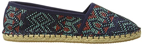 Rocket Dog Temple, Espadrilles Femme Bleu (Navy Baq)
