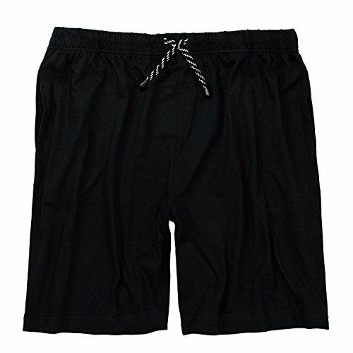 Kurze Schlafanzugshose in schwarz von Adamo bis 10XL, Größe:3XL