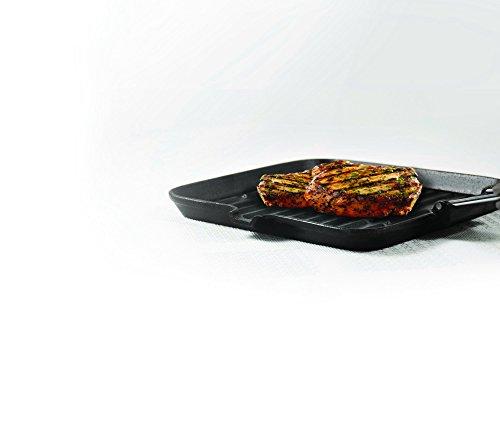 Bialetti 0LTGR024Griglia in ghisa a induzione con Manico Pieghevole in Acciaio/bachelite/Alluminio, Alluminio,...
