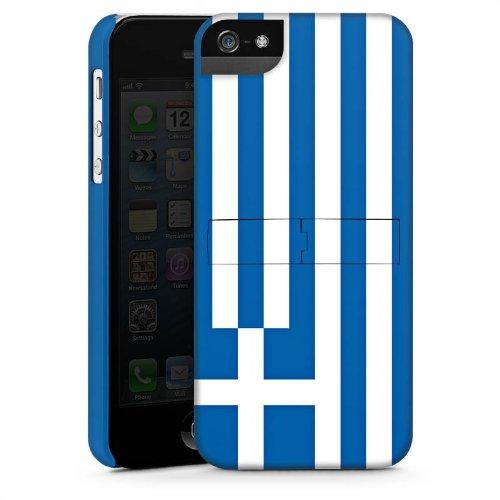 Apple iPhone 5s Housse Étui Protection Coque Grèce Drapeau Grèce CasStandup blanc