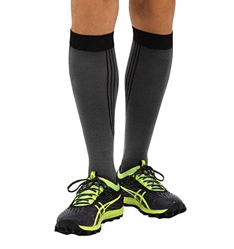 ®BeFit24 Sportivi calze elastiche a compressione graduata per uomo e donna - Perfetto gambaletti per running, calcio, trekking, crossfit, aereo - [ Misura scarpe donna: EU 35-38 ]
