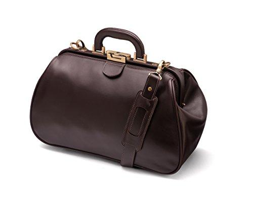 Sage Gladstone les médecins sac en cuir véritable marron marron