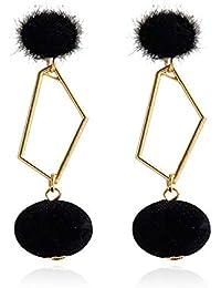 cac2833ee7d2 ZRDMN pendientes de botón colgantes joya de oreja para mujer Moda europea y  americana Metal diamante