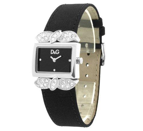 Dolce&Gabbana - DW0493 - Montre Femme - Quartz Analogique - Cadran Noir - Bracelet Cuir Noir