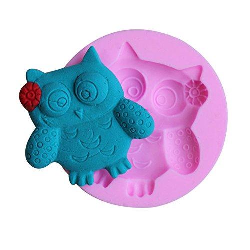 JUNGEN® Molde de Silicona de Búho para pastel Decoracion Molde de la arcilla moldes del caramelo del chocolate del azúcar de Jello