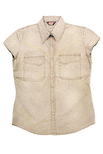 Kakadu Traders Carson Shirt de Dames Beige