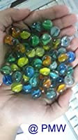 Beautiful marbles glass shooter assorted game. * material: glass * colour: multi -colour * size: 15 mm(Approx.) * sales for: lot of 100 pieces * glass marbles decorative aquarium marbles are the perfect addition to your aquarium made of 100% glass, t...