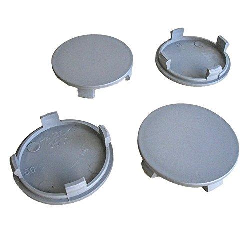 4x Nabenkappen 56 mm / 51,5 mm Nabendeckel für Universal Vw Nabenkappen 56mm