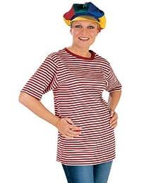 Ringel-T-Shirt, rot-weiß, halbarm, M -bis Größe 40