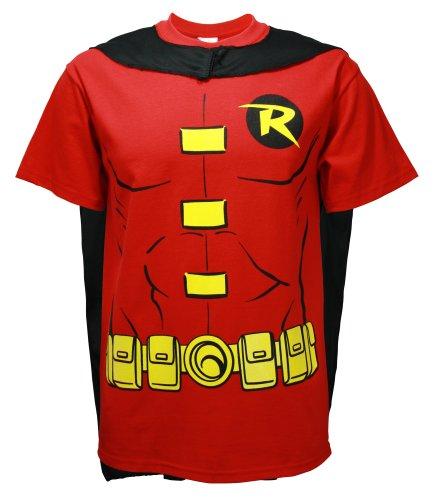 Rubie 's Offizielles Robin T-Shirt Set, Erwachsenen-Kostüm-X-Large