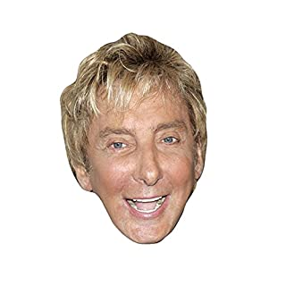 Barry Manilow Celebrity Mask, Card Face and Fancy Dress Mask