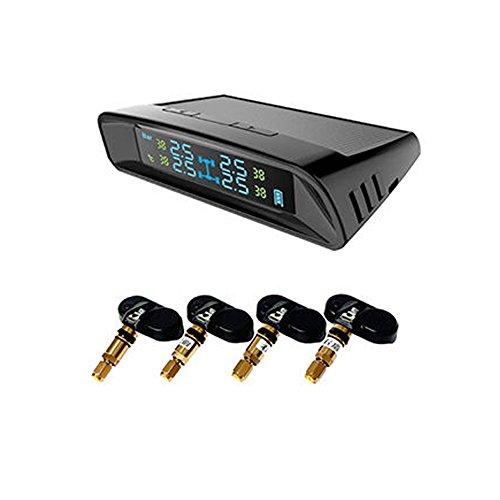 Preisvergleich Produktbild Supa cn-tpms2101 Reifendruck Überwachung Intelligente System solarbetrieben TPM mit LCD-Display und 4 interne Sensoren Diagnose Alarm Funktion unterstützen Echtzeit / Temperatur / störsicher