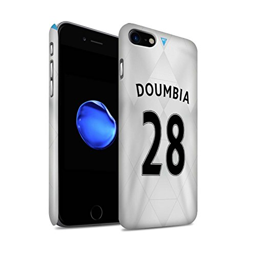 Offiziell Newcastle United FC Hülle / Matte Snap-On Case für Apple iPhone 7 / Taylor Muster / NUFC Trikot Away 15/16 Kollektion Doumbia