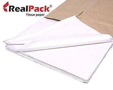 REALPACK® 200 x - Sheets of Acid Free Premium White Tissue Paper Ream 18