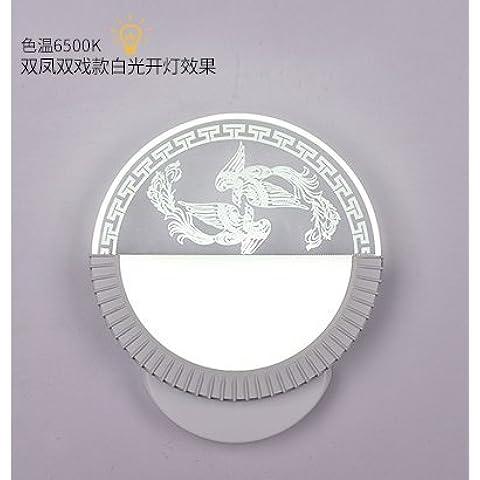 XiangMing Lampada da parete a led luci , prima lo specchio semi di girasole - luce bianca)