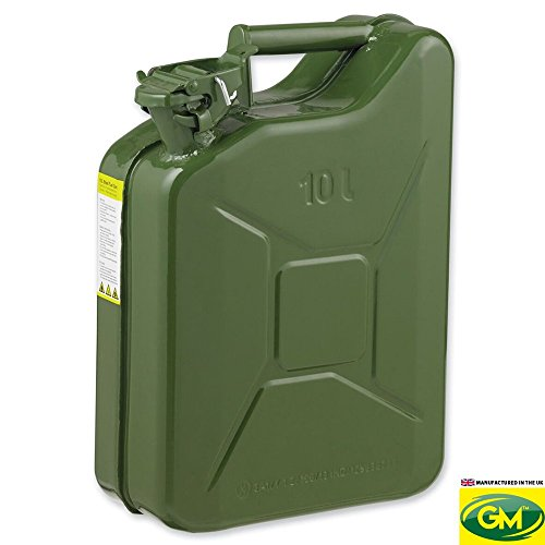 GroundMaster 10L Jerry Can Container - Petrol Oil Water Diesel Fuel Storage
