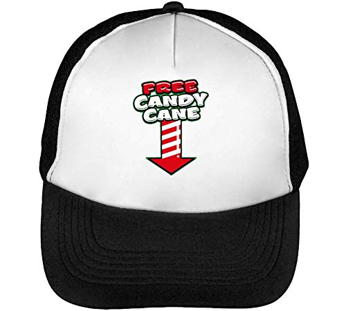 Candy Cane Funny Trucker Cap Herren Damen Schwarz Weiß Snapback