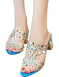Amazon.es  Sandalias Pedreria - Zapatos para mujer   Zapatos ... 47b9a1b11f27