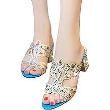 Sandalias para Mujer, ZARLLE Sandalias De Moda Zapatos De Punta Abierta De Rhinestone Sandalias De