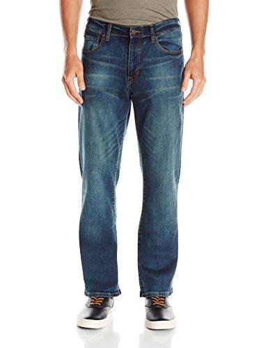 Izod Herren Denim-Jeans, bequem, Stretch, Regular, gerade, und entspannte Passform. - - 33W / 30L Izod-denim