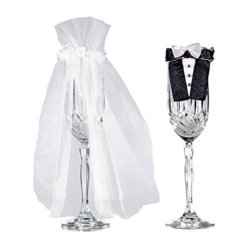Amscan Gläseranzug Braut & Bräutigam Set 2-teilig