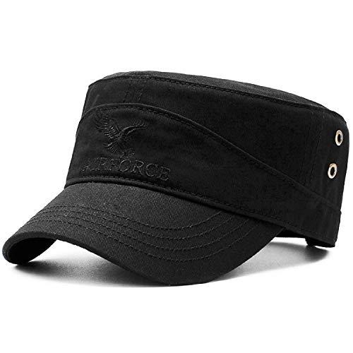 HASAGEI Army Military Cap Flatcap Vintage Baumwolle Baseball Cap Baseballmütze Kappe Herren Vintage Cap