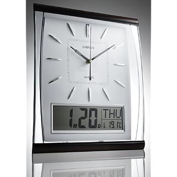 Kg Homewares Silent Sweep Wall Clock With Large Digital