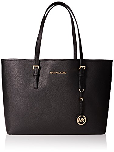 Michael Kors  Jet Set medium tote,  Damen Shopper , schwarz - Schwarz - Größe: Única (Shopper Medium Handtasche)