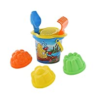 Polesie 498 216 Decorated Sieve, Shovel, Rake No.2, 3 Forms-Sets: Flower Bucket, Small, Multi Colour