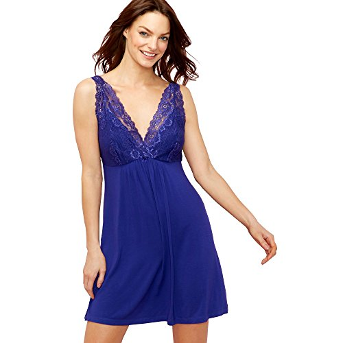 Debenhams The Collection Womens Purple Lace 'Bonita' Chemise - 41rJdfD Z8L - Debenhams The Collection Womens Purple Lace 'Bonita' Chemise