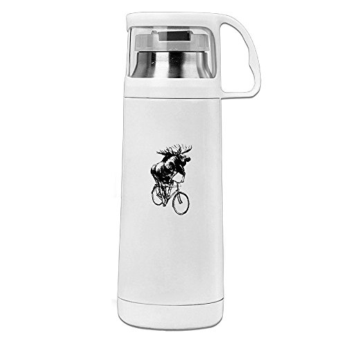 Meer Ride Bike Stainless Steel Transparent Cover With Lid Cup Thermos Mug