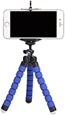 Techlife Flexible Mini Tripod Stand for Digital Camera and Mobile Phones(Blue)