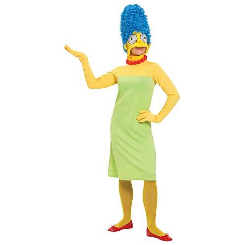 Marge Damenkostüm Die Simpsons Kostüm bunt M 36/38 Comic Kostüm Marge Simpson Ganzkörperkostüm ()