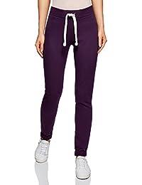 oodji Ultra Mujer Pantalones de Punto Deportivos con Lazos Decorativos