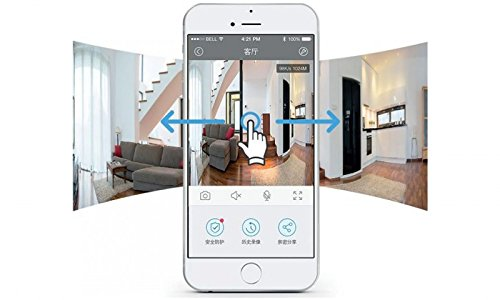 Aquarius Clever Dog 960P HD Camera 360 Panoramic WiFi Wireless Baby and Pet Home Security Monitor with iPhone/Android App 2