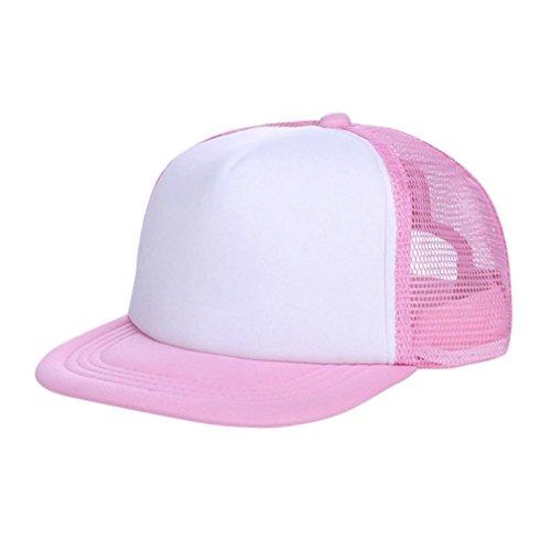 Evansamp Sommer Kinder Hüte, Kinder Baby Jungen, Sun Hat Cap Atmungsaktiv Show Hat Farbe Mesh Baseball Caps Hüte für Mädchen 3-8Jahre Alt, Kinder, Rose - Usa-mesh-hut