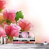 ZCHENG Schöne frische rosa rose tapete papel de parede, hotel wohnzimmer sofa tv wand schlafzimmer 3d benutzerdefinierte wandbilder blume wallpaper-400x280_cm_ (157.5_by_110.2_in_) _