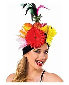Chapeau de fruits avec Plumes