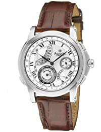 Accurist Grand Master's Repeater Men's Quartz Watch with Silver Dial Analogue Display and Brown Leather Strap GMT325