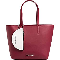 Calvin Klein Avant Medium Shopper Bolsa Lipstick Red
