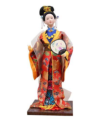 Black Temptation Chinesische alte Schönheit Vintage Puppe Restaurant Puppe Figur ()